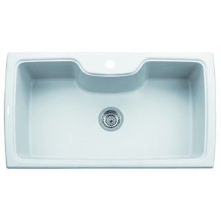 Alfi White Granite Composite 35-inch Single Bowl Kitchen Sink