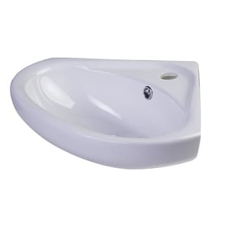 ALFI brand AB109 18-inch White Porcelain Wall Mounted Corner Sink