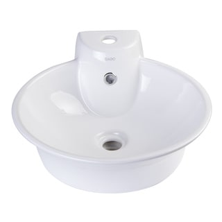 EAGO BA121 Round Ceramic Above Mount One-hole Bath Vessel Sink