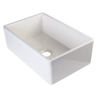 Alfi Biscuit Fireclay 30-inch Decorative Lip Single-bowl Farmhouse Kitchen Sink