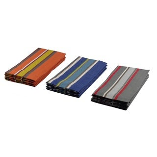 Celebration Multicolored Striped 12-piece Dinner Napkin Set
