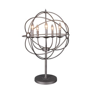 Urban Designs Grey Iron 31-Inch Orb Table Lamp