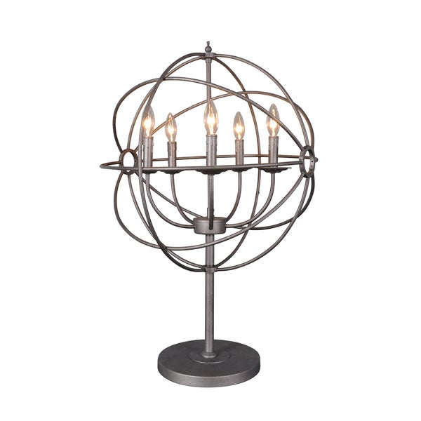 Shop Urban Designs Grey Iron 31 Inch Orb Table Lamp Free Shipping