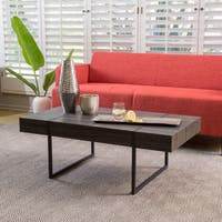 Kian Sonoma Oak Hardwood Rectangle Coffee Table by Christopher Knight Home