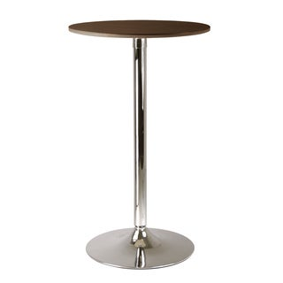 Winsome Kallie 610-93424 Cappuccino Metal 23.5-inch Round Pub Table