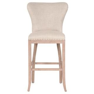 Kelsey Beige Finish Oak/Wood/Fabric Barstool