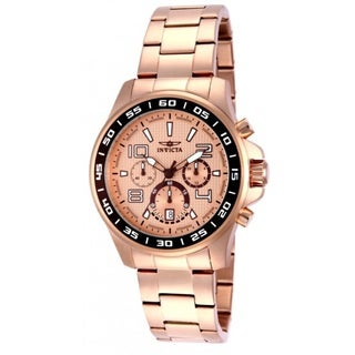 Invicta Men's Stainless Steel Specialty Chronograph Watch with Rose Gold Dial