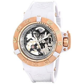 Invicta Women's Subaqua Analog Display White Silicone Mechanical Hand-wind Watch