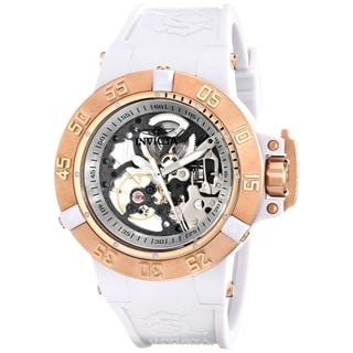 Invicta Women's Subaqua Analog Display White Silicone Mechanical Hand-wind Watch
