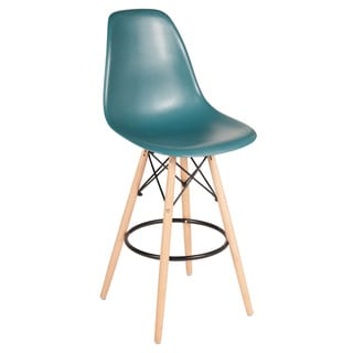 Eames Style Teal Counter Stool