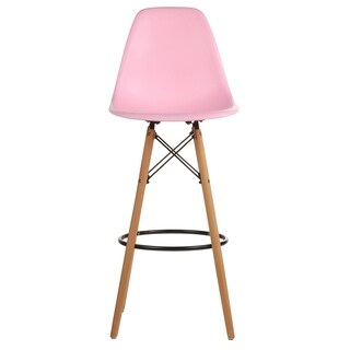 Mid-Century Modern Eames Style Teal Bar Stool