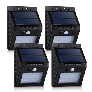 ABS/PC 320-lumen 16 LED Solar Panel-powered Motion-sensor Outdoor Security Lights|https://ak1.ostkcdn.com/images/products/12075533/P18942257.jpg?impolicy=medium