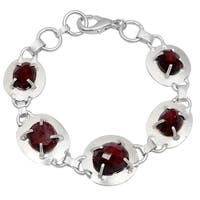 Orchid Jewelry Silver Overlay 40ct TGW Genuine Ruby Bracelet