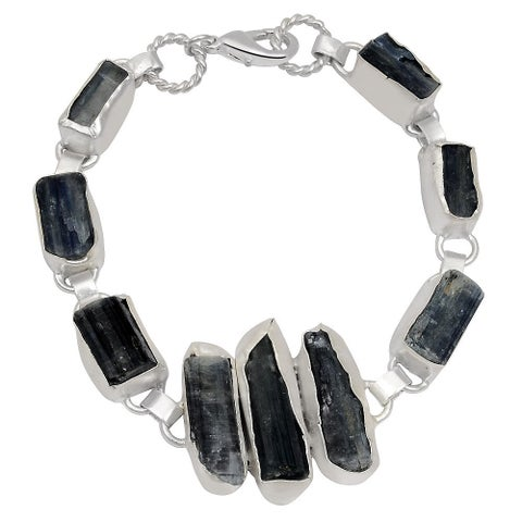 Orchid Jewelry Silver Overlay 110ct TGW Genuine Kyanite Bracelet