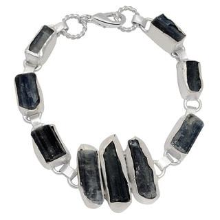 Orchid Jewelry Silver Overlay 110ct TGW Genuine Kyanite Bracelet