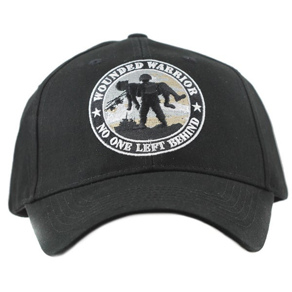 Black Cotton Wounded Warrior No One Left Behind Hat