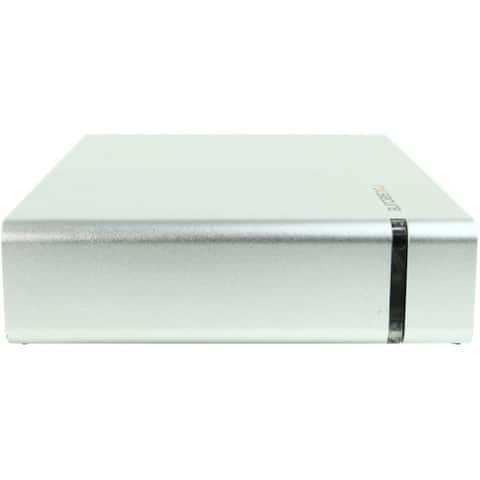 """Rocstor CommanderX EC31 4TB 3.5"""" External Hard Drive - USB 3.1 / USB 3.0 - SATA - 7200rpm - Desktop - Silver - AES 256-bit Encr"""