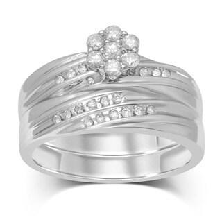 Unending Love 1/3 ct TW 10k 7 RD Flower Top Bridal Ring