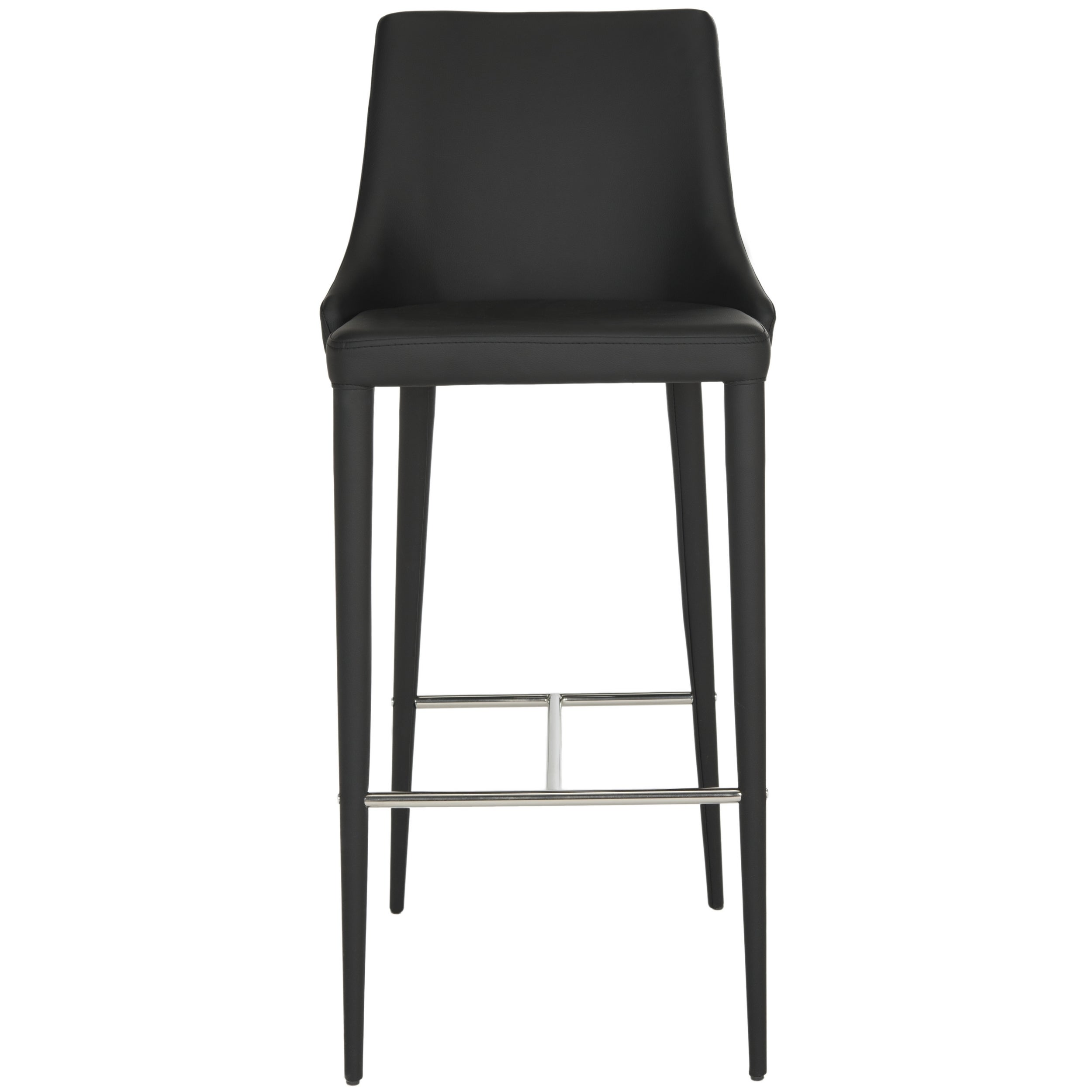 Astonishing Safavieh Mid Century Dining Summerset Modern 42 Inch Black Leather Bar Stool Squirreltailoven Fun Painted Chair Ideas Images Squirreltailovenorg