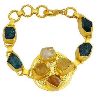 Orchid Jewelry Yellow Gold Overlay 90ct TGW Genuine Citrine and Appetite Bracelet