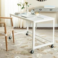 Safavieh Bentley Modern Wheeled White Desk