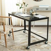 Safavieh Bentley Modern Wheeled Black Desk