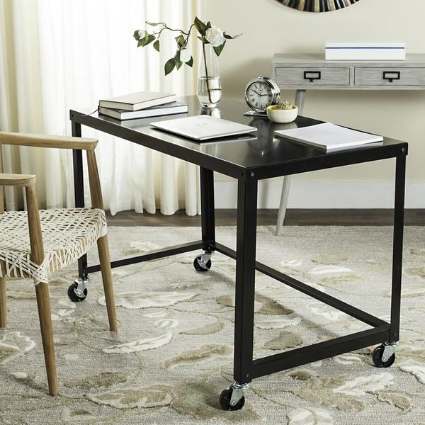 Safavieh Bentley Modern Wheeled Black Desk