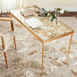 Safavieh Otto Ginkgo Leaf Antique Gold Leaf Desk