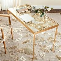 Safavieh Otto Ginkgo Leaf Antique Gold Leaf Desk