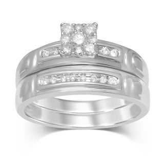 Unending Love 1/3ct TW Square Top Bridal Ring (IJ I2-I3)