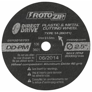 "Rotozip DD-PM5 2-1/2"" Direct Drive Cut-Off Wheel 5-count"