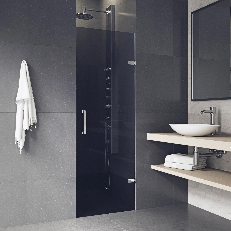 Vigo Soho Black Adjustable Frameless Shower Door