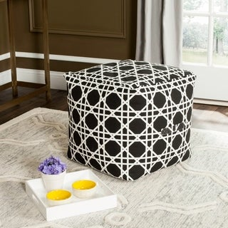 Safavieh Dominique Black / White Pouf