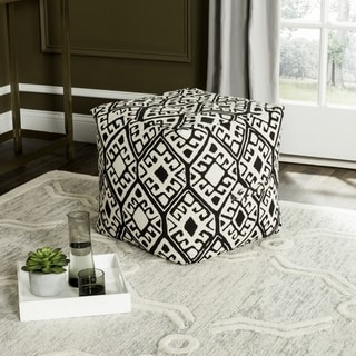 Safavieh Stellar Black / Natural Pouf