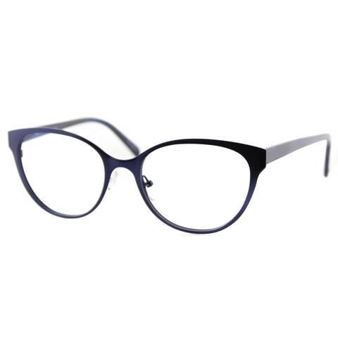 Cynthia Rowley Eyewear Women's CR6043 No. 79 Blue Plastic Cat-eye Eyeglasses