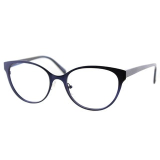 Cynthia Rowley Eyewear Women's CR6043 No. 79 Blue Plastic Cat-eye Eyeglasses