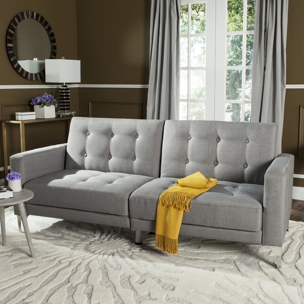 Safavieh Soho Two In One Foldable Grey Loveseat Sofa Bed