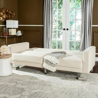 Safavieh Tribeca Two-in-One Modern Foldable Beige Loveseat Sofa Bed