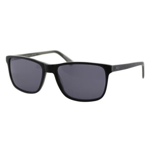 Cynthia Rowley Eyewear Black Plastic Rectangle Sunglasses