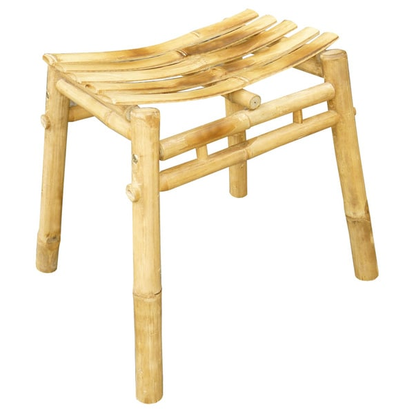 Shop Zew Tan Bamboo Handcrafted Stepstool Free Shipping