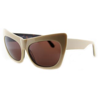 Cynthia Rowley Eyewear Women's Ivory Plastic Cat-Eye Sunglasses