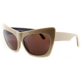Cynthia Rowley Eyewear Women's Ivory Plastic Cat-Eye Sunglasses