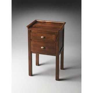 Handmade Butler Gabriel Solid Wood End Table (India)