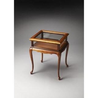Butler Burton Olive Ash Burl Curio Table