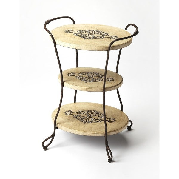 Shop Handmade Butler Silver Fossil Stone Tiered End Table (Philippines) - Free Shipping Today - Overstock - 12078081
