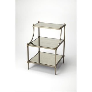 Butler Peninsula Mirrored Tiered Side Table