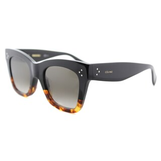 Celine CL 41098 FU5 Black Havana Brown Gradient Lens Plastic Sunglasses