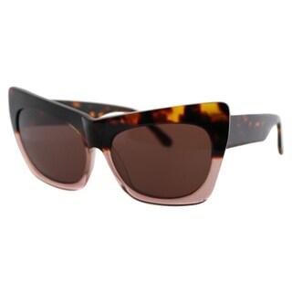 Cynthia Rowley Eyewear Women's CR6100 No. 02 LTD Tortoise/Mauve Plastic Fade Cat-eye Sunglasses