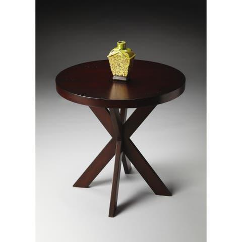 Butler Pendleton Modern Round Chocolate End Table - Dark Brown