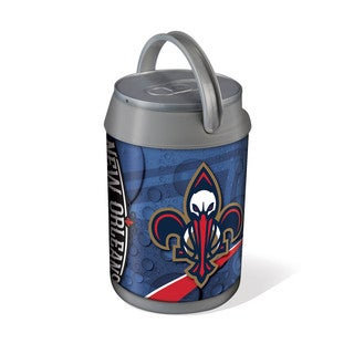 Picnic Time New Orleans Silver/Grey Pelicans Printed Mini Can Cooler